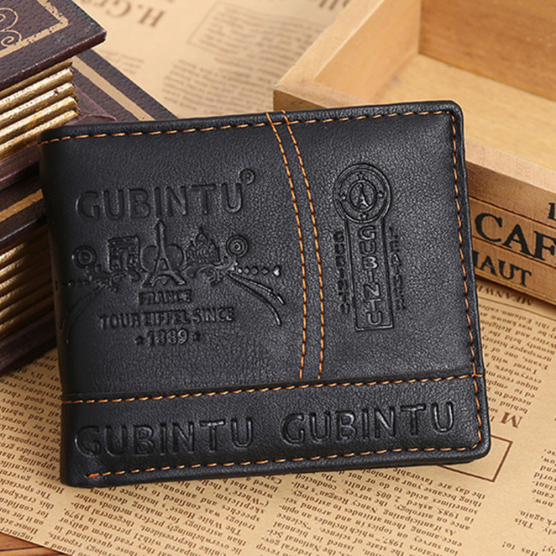 New Fashion fashion men wallets brand leather wallet design wallets with coin pocket purse card holder for men carteira<br><br>Aliexpress