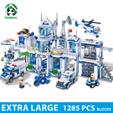 Extra Large Police Station 128Building Blocks City Educational Toys Children Kids Bricks Compatible lepin - Pandadomik store