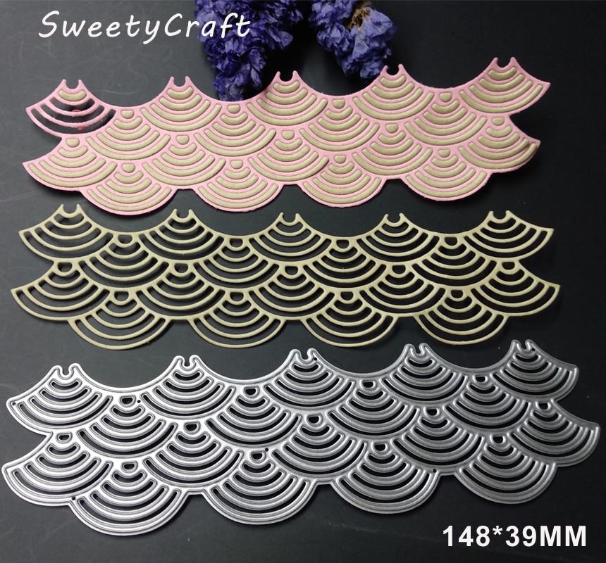 1PC Lace Border Background Metal Cutting Dies Craft DIY Scrapbooking Card Making