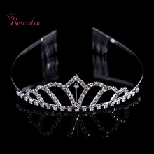 Luxury Wedding Bridal Tiara Pageant Crowns Princess Queen Prom Rhinestone Veil Tiara Headband Wedding Hair Accessory RE572
