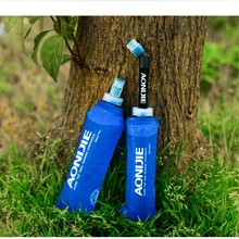Buy AONIJIE Outdoor Sport Bottle 250ml/500ml Soft TPU Healthy Foldable Long Straw Running Hiking Bicycle Camping Travel Water Bottle for $15.04 in AliExpress store