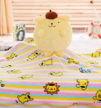 1pc 140cm sweet Pom Pom Purin pudding dog plush coral fleece office cushion + blanket soft stuffed toy romantic gift(China)