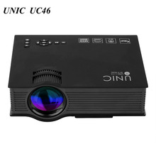 UNIC UC46 projector 1200 Lumen 800 x480 Pixel LED Projector wireless WiFi  Home Theater Projector Support 1080P USB/SD/HDMI/VGA
