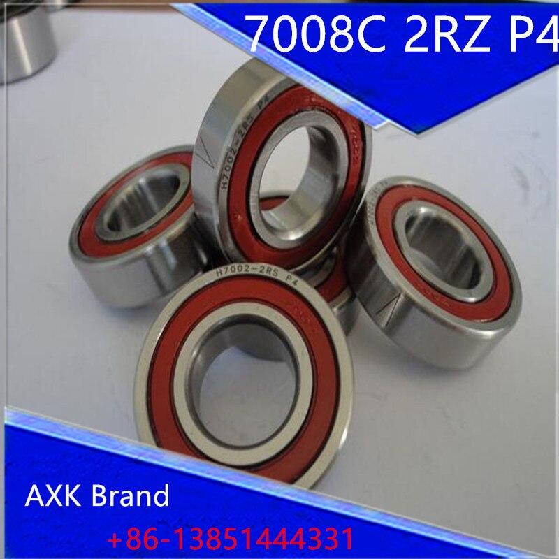 1pcs 7008 7008C 2RZ P4 40x68x15 AXK Sealed Angular Contact Bearings Speed Spindle Bearings CNC ABEC-7<br><br>Aliexpress