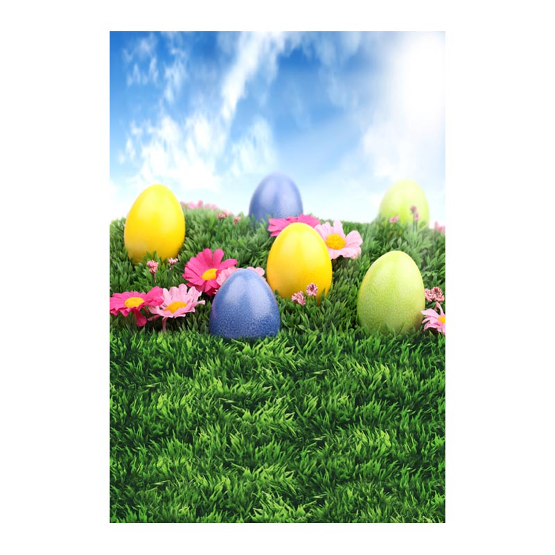 Thin fabric computer Printed photography background Easter colorful eggs photo backdrop for Studio 5X7ft GE-079<br><br>Aliexpress