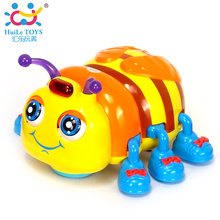 New Baby Toys Infant Crawl Electric Beetle Toys Electric Toy Bee Ladybug with Music & Light Interactive Children Educational Toy