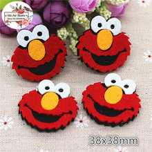 3.8CM Non-woven patches Sesame Street sunflower Felt Appliques for clothes Sewing Supplies diy craft ornament
