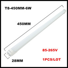 LED Tube Lights 1 Foot 0.3m 300mm 345mm 4W / 1.5 Foot 1.5ft 0.45m 450mm 6W T8 LED AC85V-265V LED Lamp Light 2835SMD LED Tubes(China)