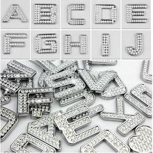 DIY Car Stickers Car Rhinestone Letter Stickers Chrome Plated Metal Body Stickers Free Combination Rhinestone 3D Stickers
