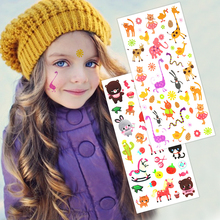 Buy 2pcs Kids Temporary Tattoo lovely Girls Cat Bear Horse Elephant Colorful Tattoo Sticker Gift Children Kids Tatoo for $5.27 in AliExpress store