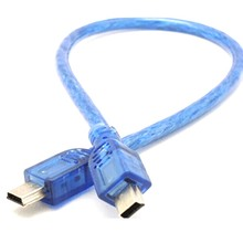 Mini Usb Male To Mini Usb male Adapter Cable Cord New for Car Gps Mp3 Sd Card Reader Cell Phone Pc Free Shipping(China)