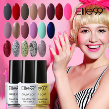 Elite99 Base Top Coat UV Gel Varnish Polish Manicure 52 Gorgeous Colors Vernis Semi Permanent Polish Gel 7ml Gelpolish