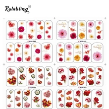 2017 Very Popular Heart-shaped And Beautiful Flowers Series Water Transfer Nail Sticker Decorate Fingernails For Nail Art