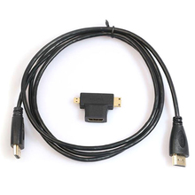 3 in 1 HD High Speed HDMI to HDMI Cable + Micro HDMI Adaptor + Mini HDMI Adapter(China)