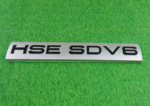 Auto Silver HSE SDV6 for RANGE ROVER Rear Boot Tailgate Emblem Badge Sticker