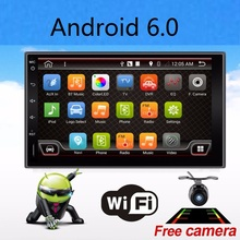 Quad 4 Core 7 INCH 2 Din Android 6.0 Car Audio Non-DVD Stereo Radio GPS TV 3G WiFi GPS Navigation Head Unit For Universal VW Car