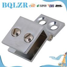 BQLZR Metal Bathroom Shower Door Silver Metal Wall to Glass Clamp Hinge(China)