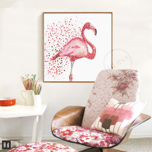 Watercolor Flamingo Canvas Art Print Painting Poster, Wall Pictures for Home Decoration, Giclee Print Wall Decor SC36