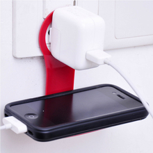 Folding Mobile Phone Charge Holder For iPhone 7 Convenient Wall Charger Hanger Charging Rack Shelf LANZERO For Samsung S8 Huawei