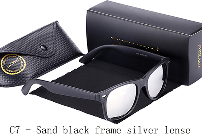 C7-Sand black frame silver lense
