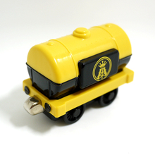 x064 Diecast magnetic  Thomas and friends jet fuel tanker alloy tank locomotive children Track Toys-  Black yellow truck