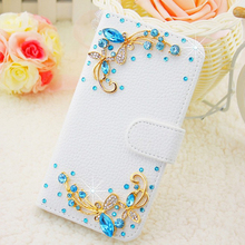 07 Luxury Bling Leather Case For Alcatel One Touch Pixi 3 4.5 4027 4027D 4027X 5017 5017E VF795