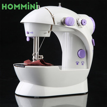 HOMMINI Electric Mini Sewing Machine Household Desktop with LED Tailoring Handheld Pedal Sewing Machines US Plug(China)