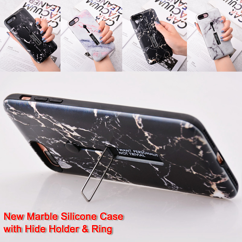 For Redmi Note 6 Pro Case Marble Silicon Hide Bracket Cover for Xiaomi Redmi Note 5 5A 6 Pro 4X 5 Plus S2 F1 Mi A1 A2 Lite Coque