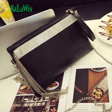 2017 HALUWIN  fashion women lady bag top hanle bags party tassel style hot sale quality pu leather crossbady messenger shoulder