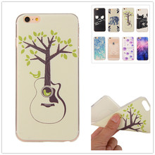 New For iPhone 6 6s 4.7'' Lemon Bike Guitar Tree Design Soft TPU Case Cover For Apple iPhone 6 6s Case Fashion Cell Phone Case