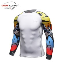 Codylundin 2017 New Products Polyester and Sportswear Spandex Men's Jersey Clothing Wholesale 2XU Long Sleeve Shirt