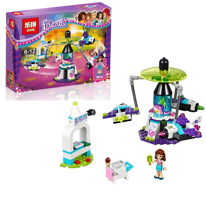 New 194pcs Lepin 01006 Girl Friend Amusement Park Space Ride Building Blocks Set Kids Bricks Gift Toys compatible with 41128<br><br>Aliexpress