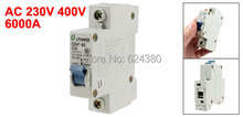 AC 230V / 400V 32A 1 Pole MCB Miniature Circuit Breaker DIN Rail Overload Protection DZ47-63 C32