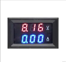 Free Shipping DC 0-100V 10A Voltmeter Ammeter Red+ Blue LED Amp Dual Digital Volt Meter Gauge LED display(China)