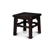 Square Stools with Cloud Scroll patterns Ottomans Foot-step Shoes trying Bench Chinese Classical Living Room Rosewood Furniture(China)