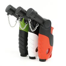 Windproof Butane Jet 1300 Torch Lighter with Strap - Random Color NO GAS(China)