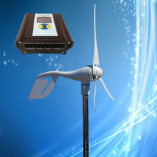400W 24V Wind Turbine; 400W Wind Power Generator + 700W Wind Solar Hybrid Controller (400W Wind, 300W Solar),LCD Display(China)