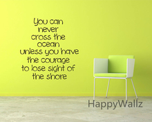 Courage Motivational Quote Wall Sticker DIY Decorative Courage Inspirational Quote Office Vinyl Wall Art Decal Custom Colors Q96(China)