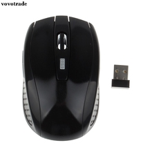 vovotrade Portable 2.4G Wireless Optical Mouse Mice For Computer PC Laptop Black Factory Price(China)