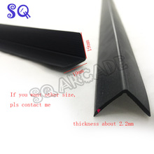 19*19mm 2mm tickness L molding for arcade cabinet plexiglass MOQ 100pcs 61cm/pc leave me message of the color you want(China)