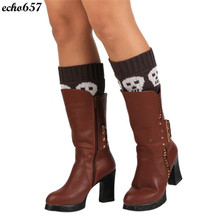 Hot New Fashion Echo657 Unique Women Winter Warm Knitted Socks Leg Warmers Boot Crochet Socks Nov 9