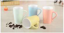450ml color glazed ceramic mug of high quality bone china, logo printing is available for shops or companies
