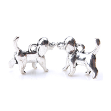 10pc/lot 14mm x 16mm x 5mm  Dog Charms Antique Silver Tone dogs charm for women pendant &necklace diy jewelry accessories