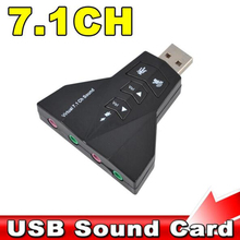 Microphone MIC Headset 7.1 Ch 3D Audio Card Converter Double Sound Card Virtual 7.1 Channel USB 2.0 Audio Adapter Dual