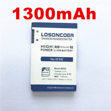 100% Original LOSONCOER 1300mAh BR50 High Quality Battery for Motorola RAZR V3 V3c V3E V3m V3T V3Z V3i V3IM PEBL U6 Prolife 300(China)