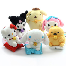 Hello Kitty My Melody kuromi Cinnamoroll Pompompurin Gudetama Kawaii 13cm Animal Stuffed Dolls Anime Plush Toys Kids Gift
