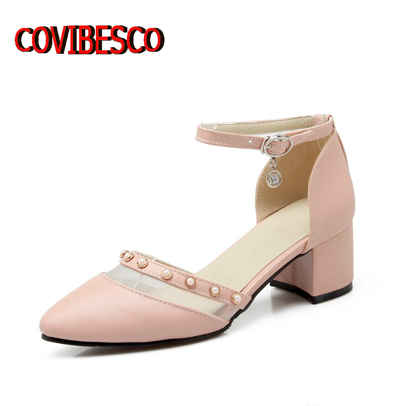 Black White Pink Women Cute Mary Jane Ankle Strap Pumps Sexy Pointed Toe High Heels Shoes Summer Wedding Shoes Big Size 34-43<br><br>Aliexpress