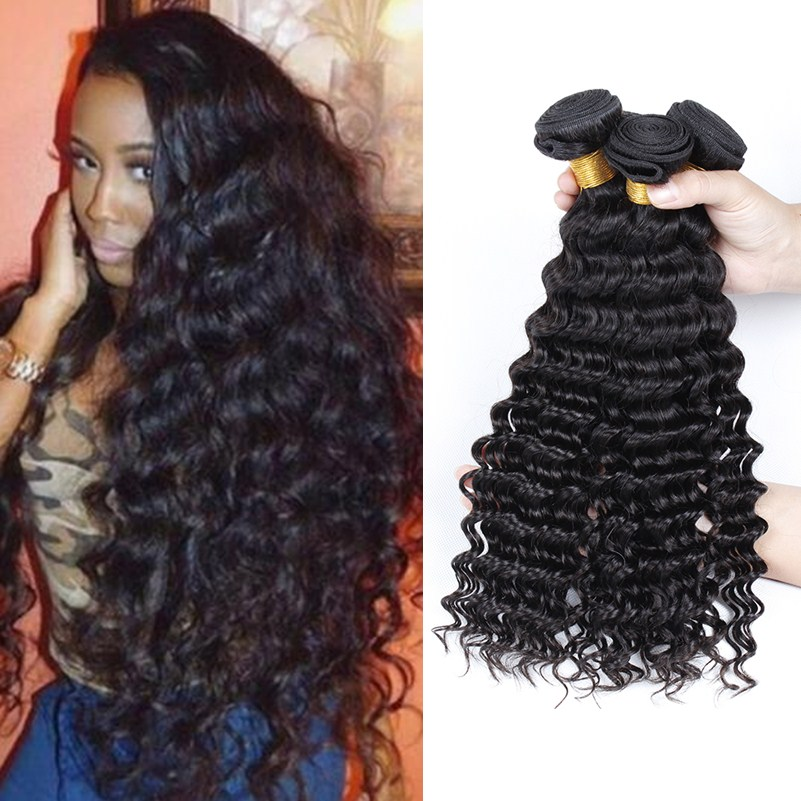 Peruvian Deep Wave Virgin Hair Peruvian Curly Hair 3 Bundle Deals Deep Wave Virgin Hair 8-26 Curly Weave Human Hair Bundles <br><br>Aliexpress
