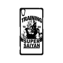 Training to go Super Saiyan Dragon Ball Z Case for iPhone 4 4S 5 5S SE 5C 6 6S Plus SONY Z Z1 Z2 Z3 Z4 MINI M2 M4 C3 C4 C5 T2 T3