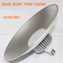 6pcs/lot LED mining lamp 100W 70W 50W 30W led high bay light E27 factory Lighting Lamp AC100V~240V